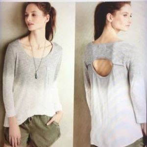 Anthropologie| Language Ombre Long Sleeved Top Med